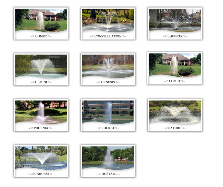 Various Otterbine Fountains